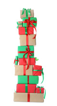 Stack Of Christmas Gift Boxes ...