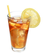 Glass Of Tasty Iced Tea With L...
