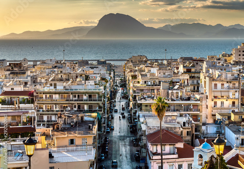 Staande foto Mediterraans Europa View of Patras town in Greece