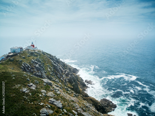 Foto Lighthouse in Finisterre or Fisterra End Of The Old World