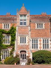 Fototapeta na wymiar Kentwell Hall Suffolk Tudor Manor special day visit olde romantic historical re-enactment