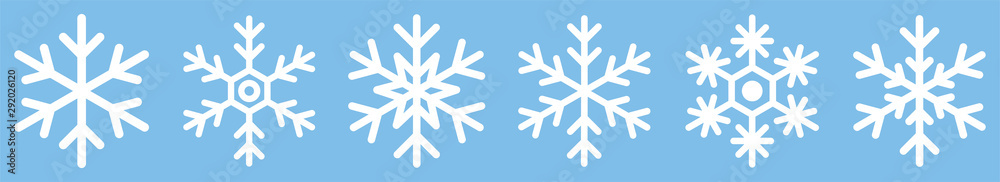 Fototapeta Snowflake different icons. Vector illustrator