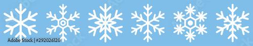 Photo  Snowflake different icons. Vector illustrator