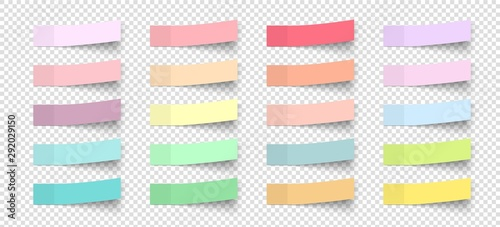 Post note stickers with shadow Canvas