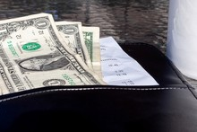 Tip With A Restaurant Bill Clo...