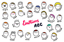 Emotions Abc Hand Drawn Vector...