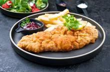 Deep Fried Wiener Schnitzel Fr...