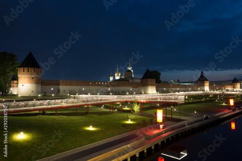 Vászonkép  Ancient kremlin in Tula at night, Russia
