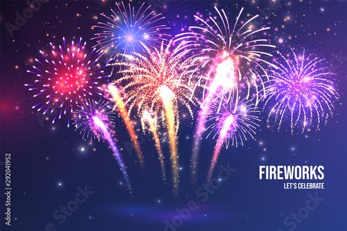 Valokuvatapetti Festive fireworks