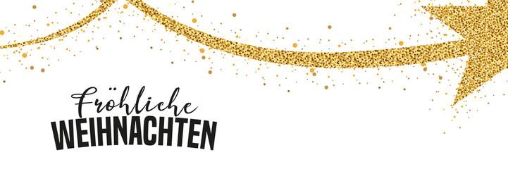 Weihnachtsbanner - Glitzer Sternschnuppe und Typographie