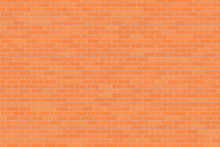 Light Red Brick Wall Abstract Background. Texture Of Bricks. Vector Illustration
