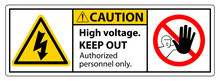Caution High Voltage Keep Out ...