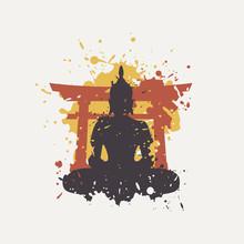 Creative Design Of Budha Illustration