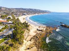 Laguna Beach, California Ocean Coast Drone Landscape Views