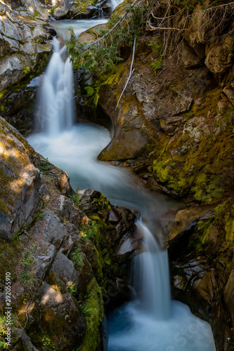 Water Streams Through Carved Rocks Above Christine Falls - 292055910