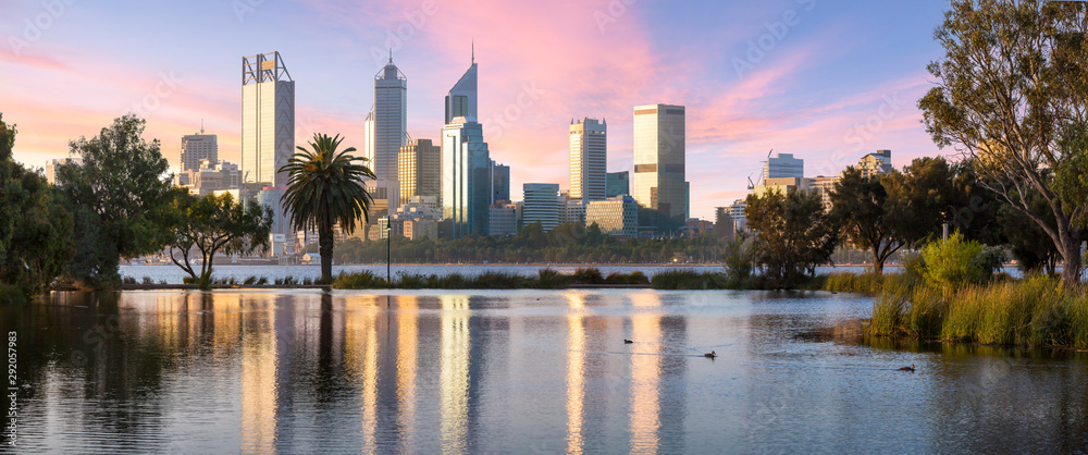 Fototapety, obrazy: Perth Cityscape from  South Perth