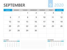 Calendar 2020 Template, SEPTEM...
