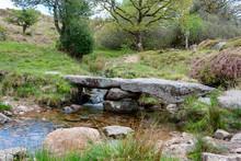 Clapper Bridge On Dartmoor