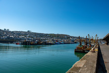 Fishing Boats In Newlyn Harbou...