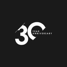 30 Years Anniversary Vector Template Design Illustration