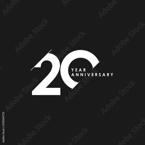 Fotografia  20 Years Anniversary Vector Template Design Illustration