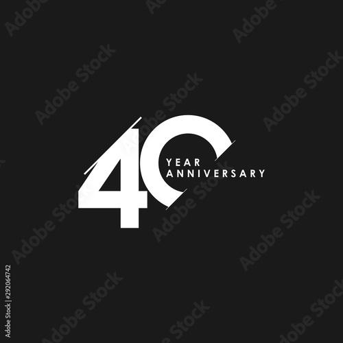 40 Years Anniversary Vector Template Design Illustration Fototapet