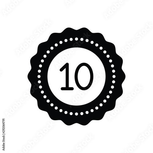 Fotografie, Tablou  Black solid icon for decade