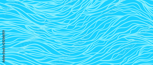 Foto auf AluDibond Pool Monochrome wave pattern. Colorful wavy background. Hand drawn tangled lines. Stripe texture. Line art. Colored wallpaper