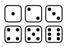 Dice. Black And White Flat Ill...