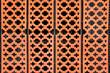Leinwanddruck Bild - orange geometric wall fence. oriental ornament background