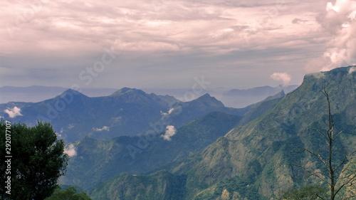 Vászonkép landscape of palani hills from pillar rocks view point at kodaikanal in tamilnad
