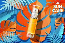 Sunscreen Spray Product Ads