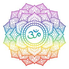 Rainbow Mandala, Sahasrara Cro...
