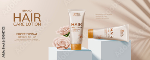 Hair care product ads