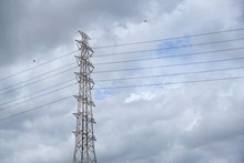 Electric Tower On Dramatic Bac...