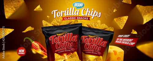 Fotomural Tortilla chips banner ads
