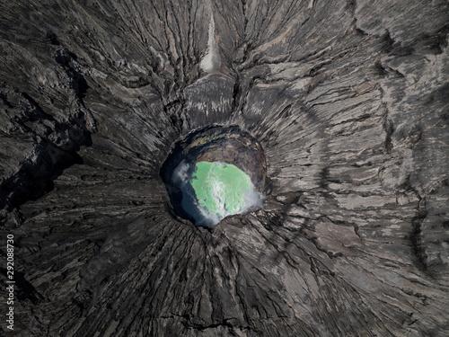 Fotomural Aerial view of Bromo mountain active volcano crater in Bromo Tengger Semeru National Park, East Java, Indonesia