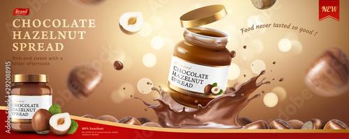 Stampa su Tela Chocolate hazelnut spread ads