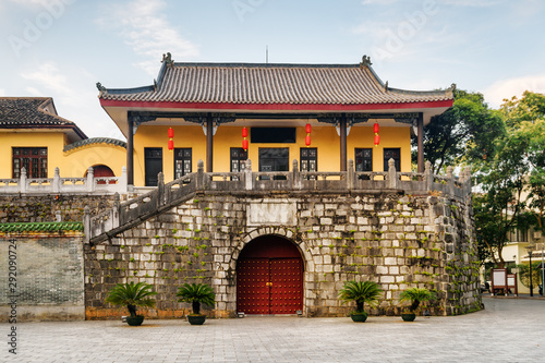 Scenic old traditional Chinese building in Guilin, China Canvas Print