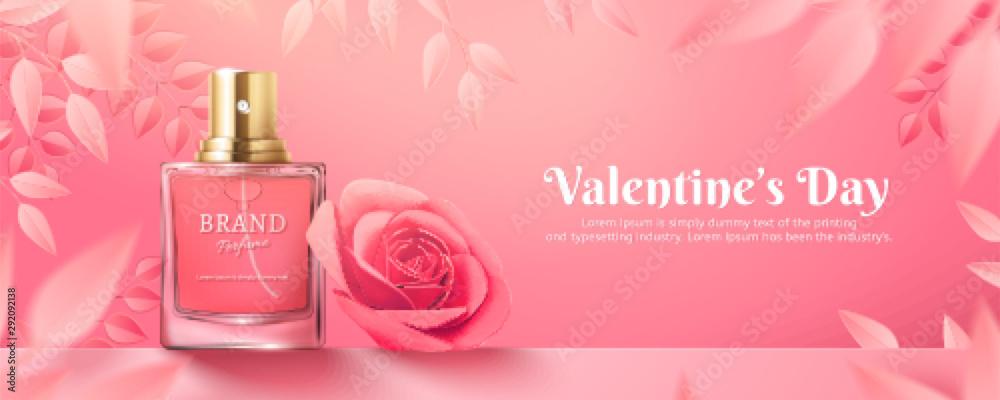 Fototapety, obrazy: Valentine's Day perfume ads