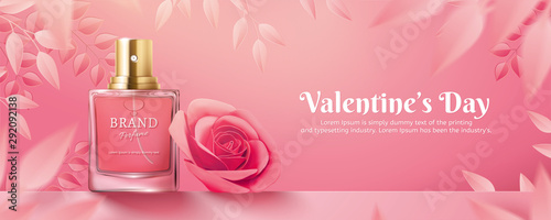 Fotomural  Valentine's Day perfume ads