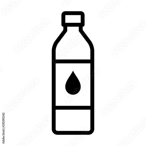 Fotomural A bottle of drinking water or bottled water beverage line art vector icon for ap