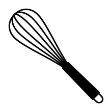 Balloon Whisk For Mixing And Whisking Flat Vector Icon For Cooking Apps And Websites