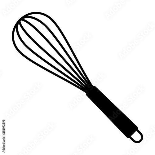 Canvas Print Balloon whisk for mixing and whisking flat vector icon for cooking apps and webs