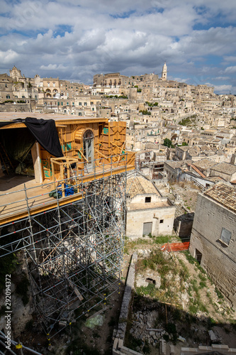 Bond apartment from the movie  No Time to Die in Sassi, Matera, Italy Canvas Print