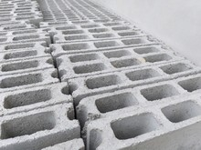 Close Up Cement Brick In Industry Site