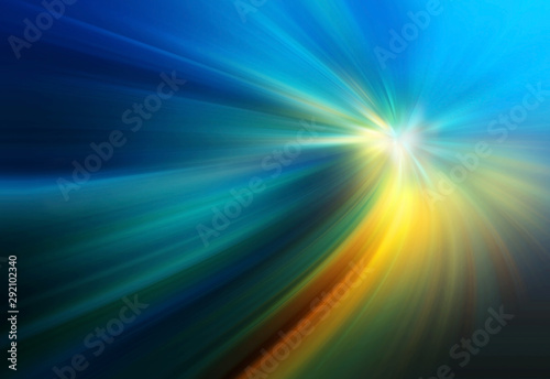 Abstract big data, colorful fibers, rays background. 3D Illustration
