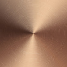 Bronze Metallic Radial Gradient With Scratches. Bronze Foil Surface Texture Effect. Vector Illustration