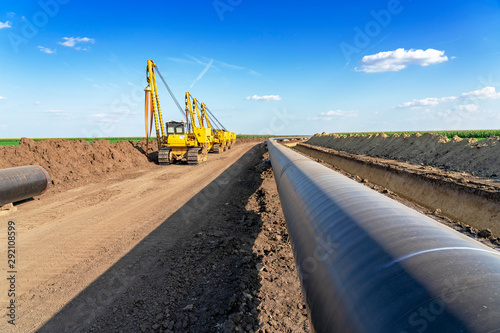 Fototapeta Pipeline Installation and Construction obraz