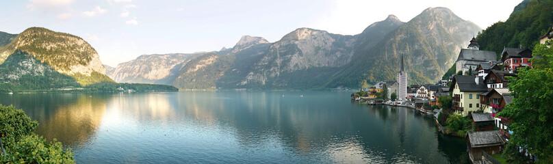 Fototapeta na wymiar Panorama Hallstatt